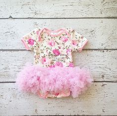 baby tutu dress baby floral tutu baby dress by PoshPeanutKids
