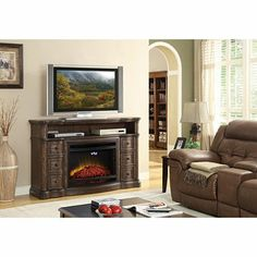 The McIntyre Electric Fireplace will provide years of warmth and entertainment in your home.