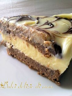Torta ai due cioccolati e mascarpone Torte Cake, Cake & Co, Cooking Cake, Cooking Recipes, Sweet Recipes, Cake Recipes, Galette, Sweet Cakes, Coffee Recipes