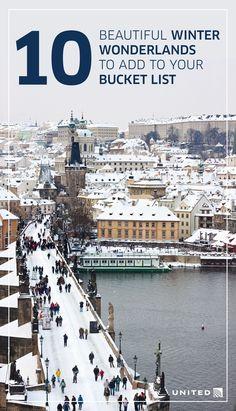 Winter wonderland destinations to add to your bucket list | Prague, Czech Republic