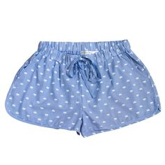 These lightweight chambray sleep shorts feature a cute foxy print and are 100% soft quality cotton. Side pockets, elastic waistband with drawstring tie. Super comfy and cool to sleep in, or perfect for lounging round the house.  Match with the ribbed singlet top for the perfect summer PJ set.  Also great for teen girls.  Available in XS-XL - (XS 4-6 / Small 6-8 / Medium 10-12 / Large 12-14 / XL 14-16)