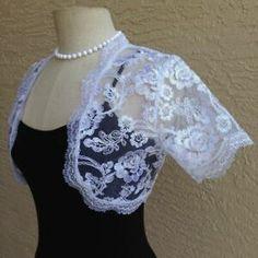 White Bridal Lace Boleros, shrugs cardigans - Women  | eBay