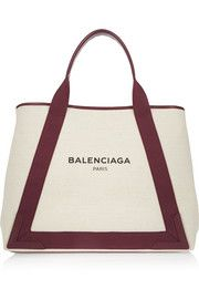 Leather-trimmed canvas tote - Balenciaga