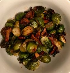 Sriracha and Honey Roasted Brussels Sprouts With Chanterelles