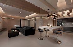 4 Sleek Interiors Where Wood Takes Center Stage #scaunerotative, #plafonluminat