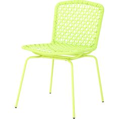 Cadeira Aço Plástico Fake Vime Urban - Verde