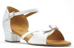 d29828c0b Girls Flesh Or White Cuban Ballroom Social Dance Shoes By Topline Katz  NICKY | Children's Dancewear | Dancewear & Accessories