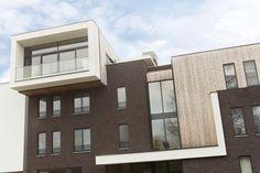 Appartement - gebouwd met de cassis baksteen van steenfabriek Nelissen