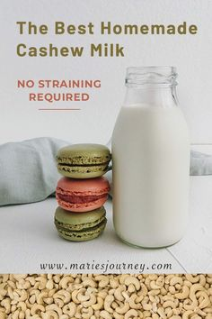 Looking for a creamy, healthy, and easy-to-make alternative to milk? This recipe is perfect for zero-waste lifestyle. No straining required! Almond Milk Smoothie Recipes, Milk Recipes, Vegan Recipes, Three Ingredient Recipes, Plant Based Breakfast, Cashew Cheese, Plant Based Milk, Food Print, Recipes