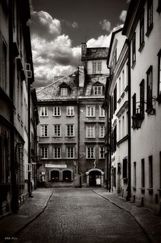 Streets of the old Warsaw, Poland