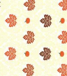 Made in the USA Harvest Fabric - Leaves Damask