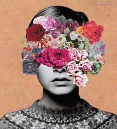 flower collage colorful flowers art cool abstract weird boy trippy