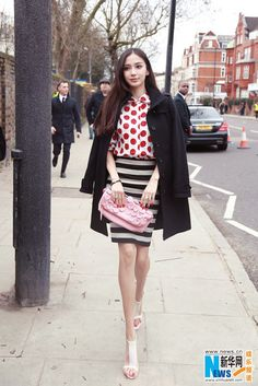 Angelababy in London for Fashion Week | China Entertainment News