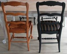 tuto relooking chaise rustique bricolage pinterest. Black Bedroom Furniture Sets. Home Design Ideas