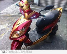 Iron Man Scooter! Coolest bike ever.