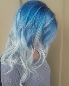 Blue+To+Ash+Blonde+Reverse+Ombre