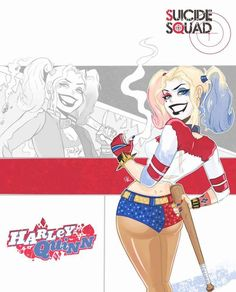 """batmananimated: """" Harley Quinn from Suicide Squad done in Bruce Timm style by Terry Alec. Great work!"""""""
