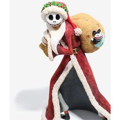 The Nightmare Before Christmas Santa Jack Resin Figure ($64) ❤ liked on Polyvore featuring home, home decor, holiday decorations, jack skellington figure, resin santa figurines, santa claus figure, christmas santa figurines and christmas holiday decorations