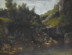 "Gustave Courbet (French, 1819-1877), ""Cascade in a Rocky Landscape,"" about 1872-1874; Indianapolis Museum of Art, James E. Roberts Fund, 39.3"