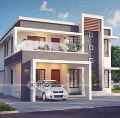 Atap rumah penuh House Window Design, 2 Storey House Design, Bungalow House Design, House Front Design, Modern Small House Design, Modern Exterior House Designs, Modern House Facades, Exterior Design, Contemporary Home Exteriors