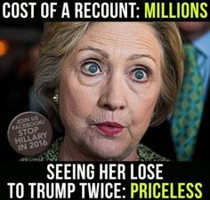 Now Lock her up. Set an example, drain the swamp.
