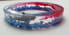 Shark Attack with Mangled Body Parts Resin Bangle Bracelet