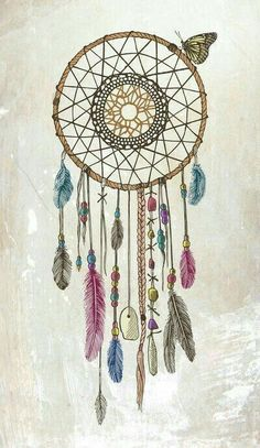Lakota (Dream Catcher) Art Print - the two things I love in one picture. Dream catcher and a butterfly Tattoo Heaven, Dream Catcher Pictures, Los Dreamcatchers, Dream Catcher Art, Dream Catcher Painting, Dream Catcher Tumblr, Dream Catcher Sketch, Sun Catcher, Bild Tattoos