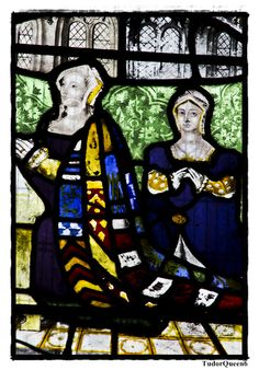 Lady Anne, Countess of Pembroke with daughter Lady Anne Herbert. Wilton Parish Church.