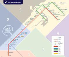 Map of Dubai metro & subway RTA network
