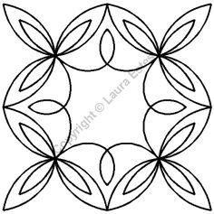 "Continuous Line Quilting Stencils > 11"" and up Block C.L. - Item: 11"" on QuiltingCreations.com"