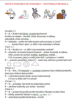 týdenní plány mš - Hledat Googlem Kindergarten, Preschool, Projects To Try, Teacher, How To Plan, Education, Learning, Google, Carnival