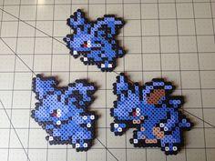Pokemon Bead Sprite Set  Nidoran F Family by ToughTurtles on Etsy, $7.50