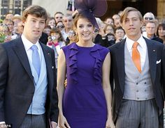 Prince Sebastien, Princess Tessy, and Prince Louis of Luxembourg arrive for the religious wedding to Prince Felix of Luxembourg, to Claire Lademacher,  in Saint-Maximin-la-Sainte-Baume, France, September 21, 2013