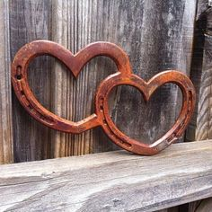 Two Hearts One Love HORSESHOE heart