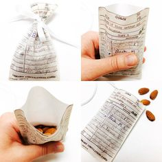Book Favors Fabric Library Card Pouch Book Wedding Favors