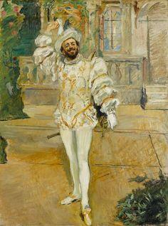 Max Slevogt - Das Champagnerlied oder Der Weiße d'Andrade (1902)