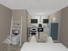 Plan : Bureau + Cuisine Logiciel: Home Design Gold