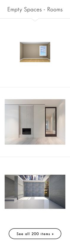 """Empty Spaces - Rooms"" by jacci0528 ❤ liked on Polyvore featuring rooms, backgrounds, empty rooms, room, home, ambientes, interior, fondos, interiors and home decor"