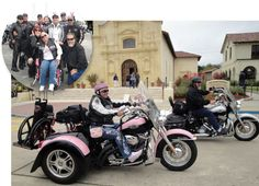 Pink Trike ride with friends