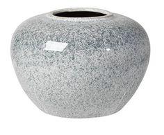 Broste Petrol Blue 'Ruby' Large Ceramic Vase - Trouva