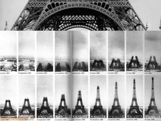"""""""A fascinating image showing the construction of the iconic Eiffel Tower in Paris. Assembly began in It took two years, two months & five days to build Gustave Eiffel's iron tower. Gustave Eiffel, Torre Eiffel Paris, Paris Eiffel Tower, Eiffel Towers, Tower Building, Old Paris, Tours, Paris Ville, Iconic Photos"""