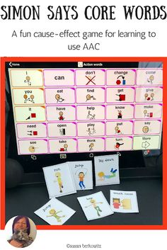 Kidz Learn Language: He Can't? I Bet He Can! AAC users with Complex Communication Needs and/or motor issues need us to think outside the box for AAC solutions. Speech Language Therapy, Speech And Language, Speech Therapy, Speech Pathology, Communication Development, Language Development, Action Words, Vocabulary Activities, Teacher Blogs