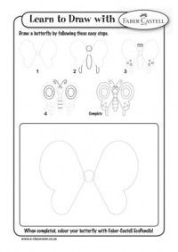 Learn To Draw - BUTTERFLY {and more}