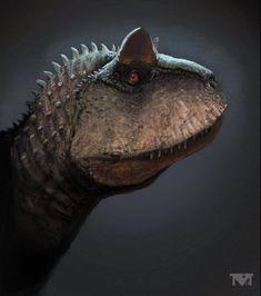 Carnotaurus by MALvit on DeviantArt Prehistoric Wildlife, Prehistoric Creatures, Dinosaur Fossils, Dinosaur Art, Dinosaurs Live, Feathered Dinosaurs, Dinosaur Skeleton, Anthropologie, Creature Concept Art