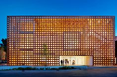 Aspen, Colorado, Shigeru Ban Architects, 2014Shortly after being awarded the Pritzker Prize, Shigeru Ban unveiled his extraordinary new 33,000-square-foot home for the Aspen Art Museum, featuring distinctive latticework screens on two sides. The screens' woven slats—made of a composite of paper, resin, and wood—nod to traditional construction techniques as well as to the temporary cardboard relief shelters the Japanese architect is best known for.