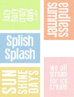 Free Endless Summer Printables for Project Life from scrappystickyinkymess