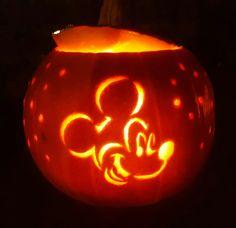 Pumpkin- pompoen Mickey Mouse