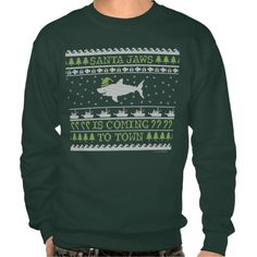 Santa Jaws Ugly Sweater Christmas Shark Sweatshirt