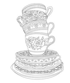 #ClippedOnIssuu from Elegant Tea Party Coloring Book