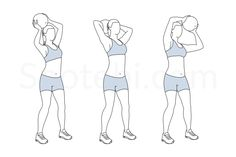 Medicine ball overhead circles exercise guide with instructions, demonstration, calories burned and muscles worked. Learn proper form, discover all health benefits and choose a workout.